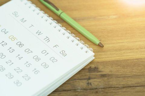 カレンダー ペン
