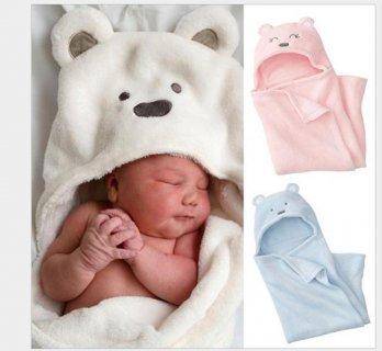 要出典 おくるみ おすすめ 赤ちゃん おくるみ ベビー タオルケット フード付き クマさん