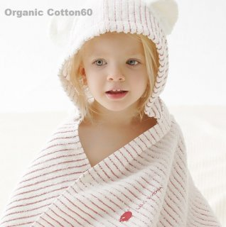 要出典 出産祝い タオル ミルフィーユ フード付きバスタオル オーガニックコットン 出産祝い