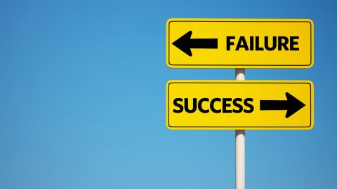 成功と失敗の表示