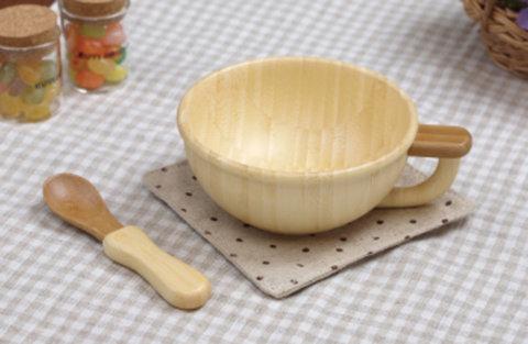 要出典 木製 名入れ こども食器  スープカップセット