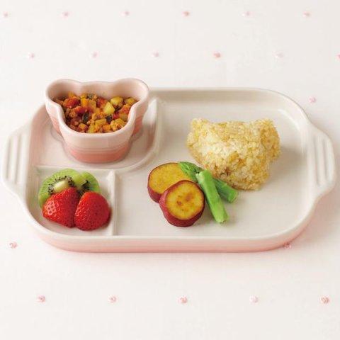 要出典 女の子 出産祝い ル・クルーゼベビー マルチ プレート&ラムカン 子供用 食器セット