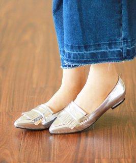 要出典 妊婦 靴 フラットシューズフリンジデザイン ローファー ポインテッドトゥ フラットシューズ