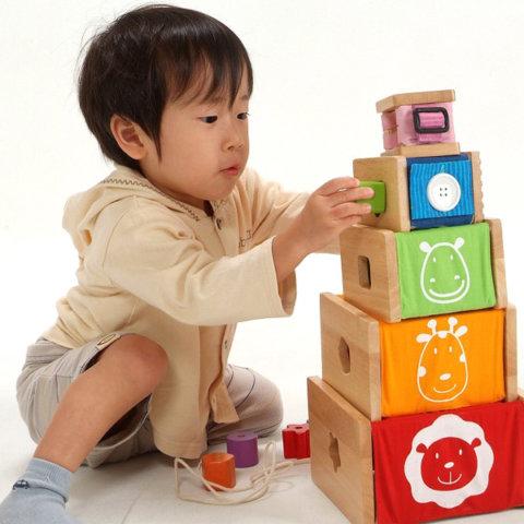 要出典 出産祝い 男の子 アイムトイ社 トレーニングキューブ