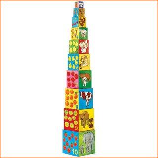 要出典 1歳の誕生日プレゼント 男の子 DJECO ジェコ 10マイフレンド ブロックス