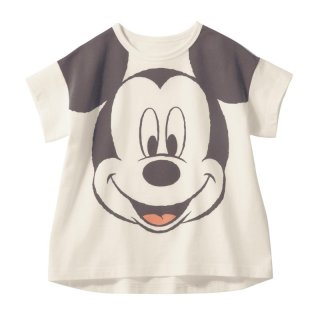 要出典 ディズニー 子供服ディズニー 半袖ビッグシルエットフェイスTシャツ ミッキーマウス