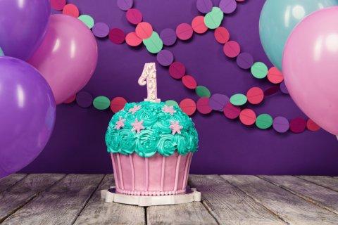 スマッシュケーキ 1歳 誕生日 ケーキ