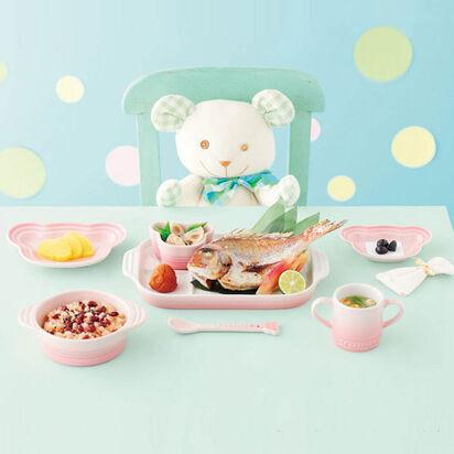 要出典 離乳食用食器 ル・クルーゼ ベビー・テーブルウェア・セット