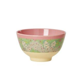 要出典 子供 茶碗 ライス プリントメラミンボウル スモールサイズ 子ども茶碗 バタフライ&フラワー