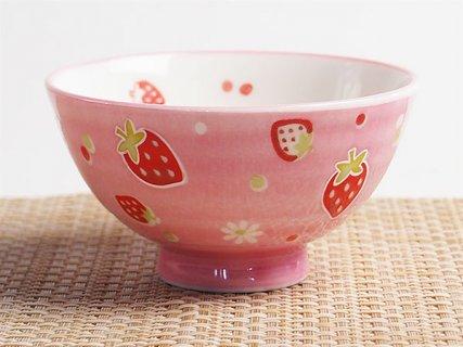 要出典 子供 茶碗 子ども用 イチゴ茶碗 孫平