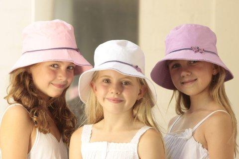 要出典 女の子 帽子 サングローブ 女の子 キッズ 帽子 UVカット バタフライ バケット