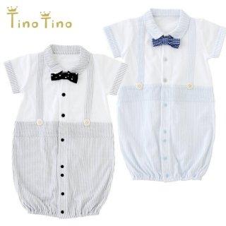 要出典 セレモニードレス チャックル ティノティノ 蝶ネクタイ付き 半袖 新生児ツーウェイオール