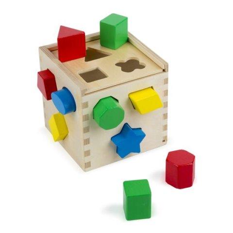 要出典 2歳 知育玩具 メリッサ&ダグ シェイプソーティングキューブ