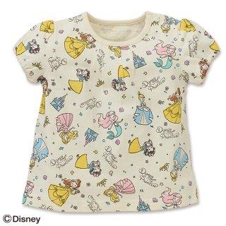 要出典 ディズニー ベビー服 ディズニー ベビー服 プリンセス総柄 スモックTシャツ