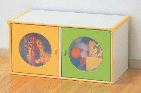 要出典 おもちゃ収納棚 アイリスオーヤマ カラーボックス 扉付き