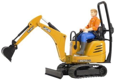 要出典 ショベルカー おもちゃ ブルーダー JCBマイクロショベル フィギュア付き