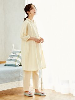 要出典 妊婦 パジャマ エンジェリーベ マタニティ パジャマ 授乳口付き 軽やか楊柳ストライプ 七分袖
