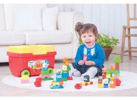 要出典 ブロックおもちゃ バンダイ ブロックラボ はじめてのブロックワゴン アンパンマン