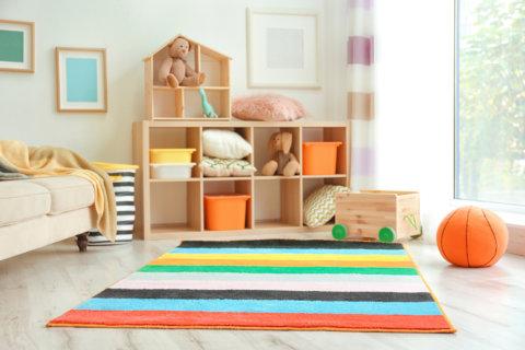 子供部屋 収納 カーペット
