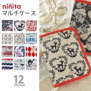 要出典  母子手帳ケース ポーチ ninita(ニニ―タ) マルチケース 母子手帳
