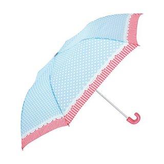 要出典 子供 折りたたみ傘 シェイルシェイル 子供用 折りたたみ傘 ガーリー ドット