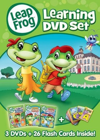 要出典 英語 おもちゃ リープフロッグ フラッシュカード26枚入り+DVD3枚セット