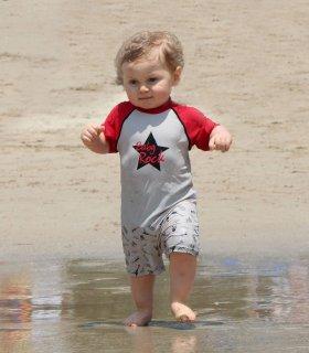 要出典 ベビー水着 男の子 エリー ラ フリプィユ ベビーロックスター ロンパース型 水着