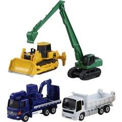 要出典  ショベルカー おもちゃ タカラトミー トミカ トミカギフト 建設車両セット5