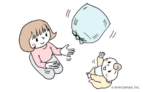ビニール袋で風船