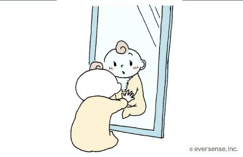 鏡でこんにちは
