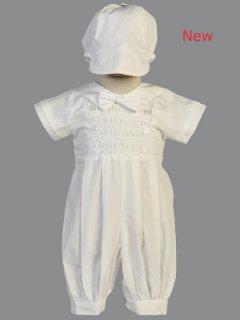 要出典 セレモニードレス リト 新生児コットンセレモニーロンパース Isaac 帽子付