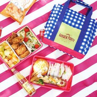 運動会 お弁当箱 GardenParty 大容量 2段 保冷バッグ付き ランチボックス
