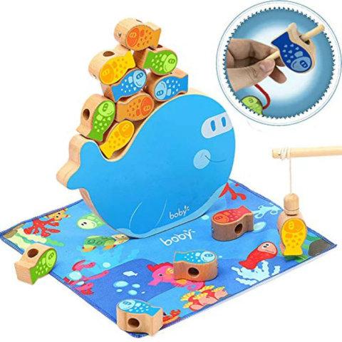 要出典 魚釣り おもちゃ CORPER TOYS 木製パズル 4in1