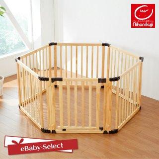 要出典  ベビーサークル おすすめ 日本育児 日本育児 たためる木製サークル フレックスDX