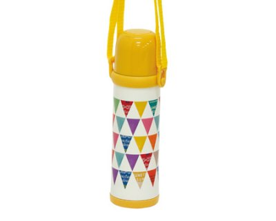 要出典 子供 水筒丸和貿易 水筒 スマイルピート 2Wayボトル マスタードフラッグ