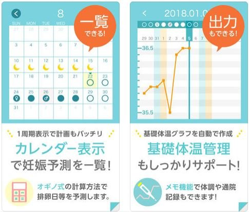 要出典 コウノトリ 基礎体温アプリ