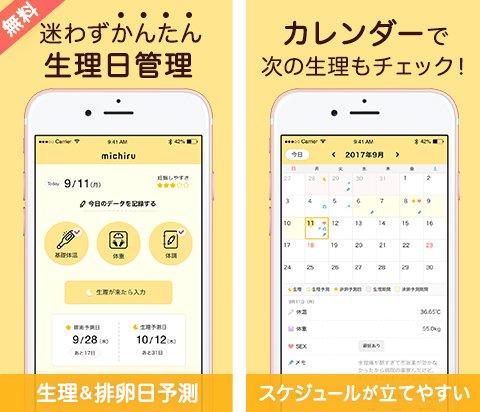 michiru ミチル 生理アプリ オリジナル eversense