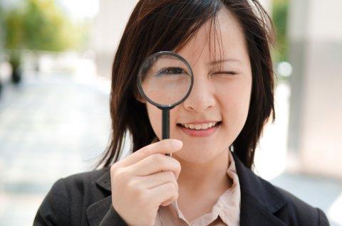 虫眼鏡 日本人 女性 見分ける
