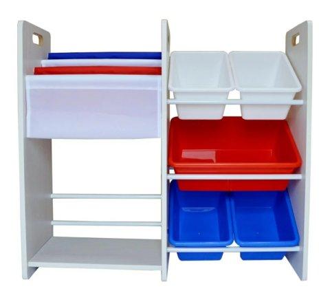 要出典 おもちゃ 収納棚 マメンチ 玩具箱&本棚 フランスカラー