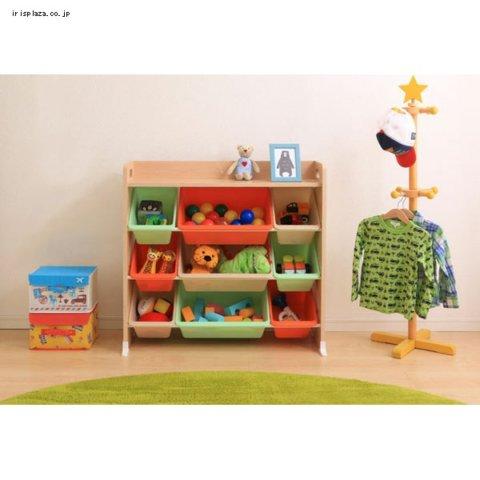 要出典 おもちゃ 収納棚 アイリスオーヤマ おもちゃ箱 天板付き トイハウスラック