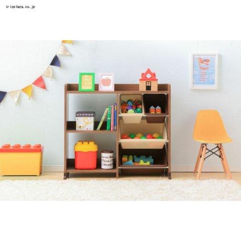 要出典 おもちゃ収納 アイリスオーヤマ おもちゃ箱 天板・本棚付き トイハウスラック
