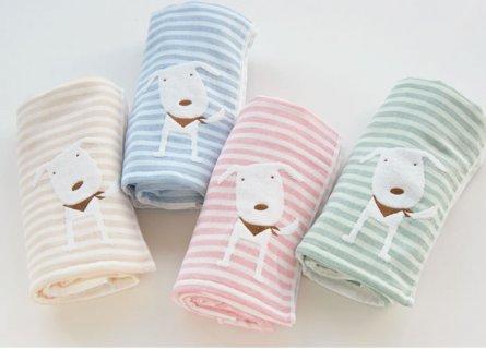 要出典 赤ちゃん用 バスタオル 今治タオル ベビーギフト Ponちゃん ガーゼボーダー バスタオル