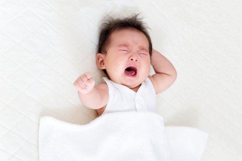 日本人 赤ちゃん 泣く モロー反射