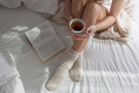 女性 お茶 靴下