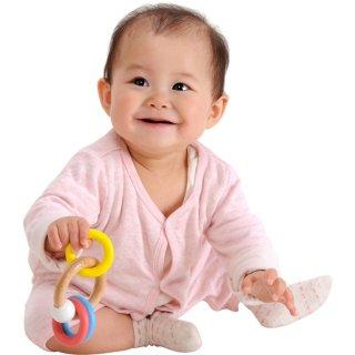 要出典 生後6ヶ月 知育玩具 エデュテ ベビー&キッズ 3RINGS ラトル ガラガラ