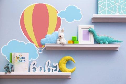 絵本 おもちゃ 収納 壁 ウォールアート