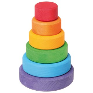 要出典 生後7ヶ月 知育玩具 グリムス社 スタッキングタワー 円錐つみき 小