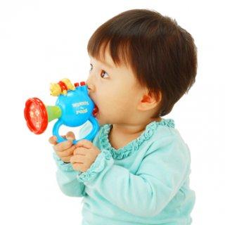 要出典 生後8ヶ月 知育玩具 くまのプーさん あかちゃんのラッパ