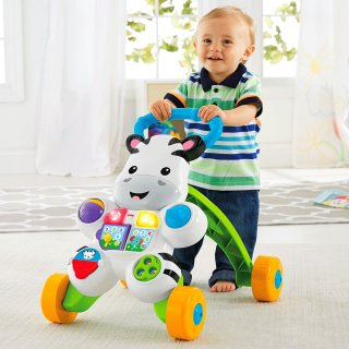 要出典 生後8ヶ月 知育玩具 フィッシャープライス おして! しまうまくんのバイリンガル・ウォーカー