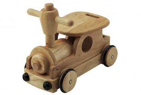 要出典 生後10ヶ月 知育玩具 野中製作所 木's 乗用ポッポ